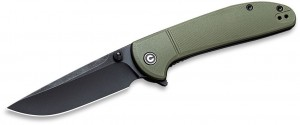 Складной нож CIVIVI  Badlands Vagabond Flipper 9Cr18MoV Black Stonewashed Blade OD Green C2019B