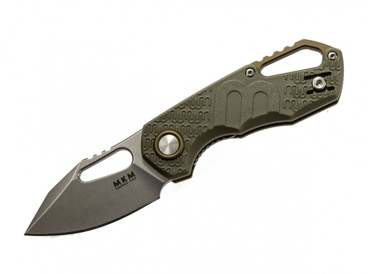 Складной нож MKM Knives Isonzo Clip Point folding knife green MKFX03-3-PGR