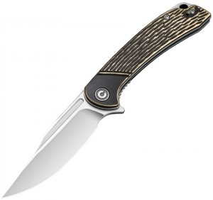 CIVIVI Dogma folding knife, brass C2014A