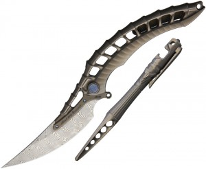 Rike Knives Alien 4 Framelock Combo folding knife