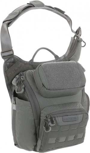 Maxpedition AGR Wolfspur v2.0 Crossbody Shoulder Bag gray WLF2GRY