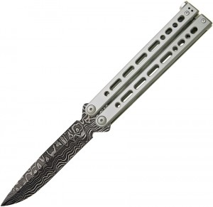 Bear Ops Bear Song VIII Spear Point butterfly knife grey